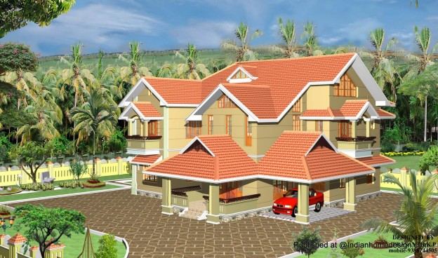 Home-exterior-design-in-elegant-style-kerala-home-exterior-design